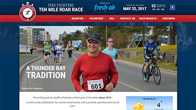 Thunder Bay 10 Mile Road Race Website
