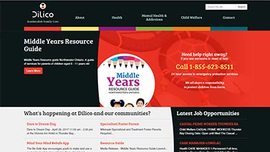 Dilico Anishinabek Family Care Web Design