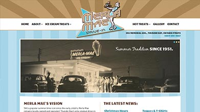 Merla Mae Thunder Bay Drive-In Website