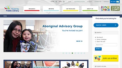 Thunder Bay Public Library Website Design